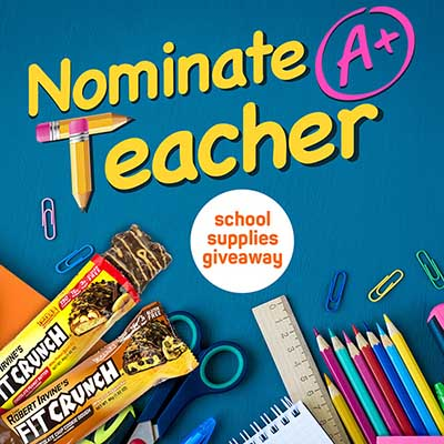 Free Fitcrunch Bars and School Supplies for Winners