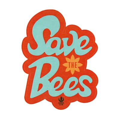 Free Save the Bees Sticker