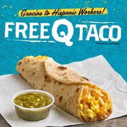 Free Q Taco at Laredo Taco