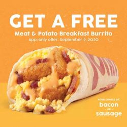 Free Breakfast Burrito at Taco John's