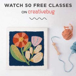Free Classes on CreativeBug in October