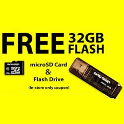 Free Flash Drive at Micro Center