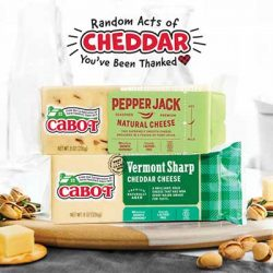 Free Cabot Cheese Gift Certificates for Winners