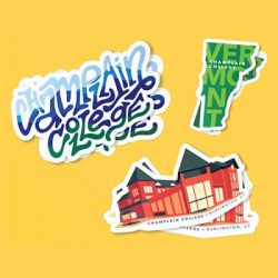 Free Champlain College Stickers and More