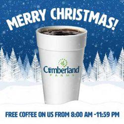 Free Coffee at Cumberland Farms