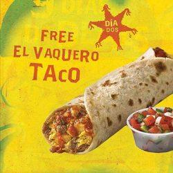 Free El Vaquero Taco at Laredo Taco