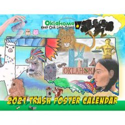 Free 2021 Color Our State Trash Free Calendar