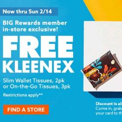 Free Kleenex Tissues at Big Lots