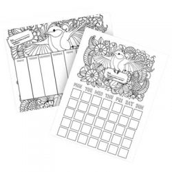 Free Print-at-Home Coloring Calendar from Freeosk