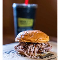 Free Pulled Pork Sandwich at Dickey's