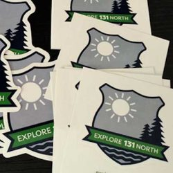 Free Explore 131 North Postcard and Decal