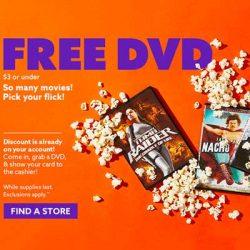 Free DVD at Big Lots
