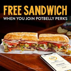 Free Sandwich at Potbelly